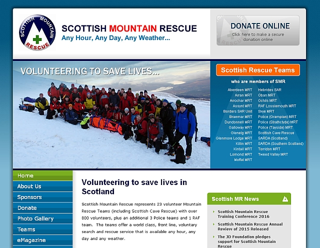 Click to go to Scottish Mountain Rescue